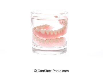 Full Denture in glass of water