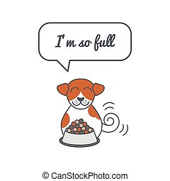 Full dog with speech bubble and saying