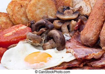Full English Breakfast - Detail of full English Breakfast