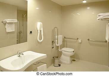 Bathroom at modern Hospital room