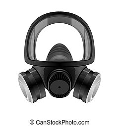 Full Face Industrial Grade Respiratory Protective Mask - Icon as EPS 10 File