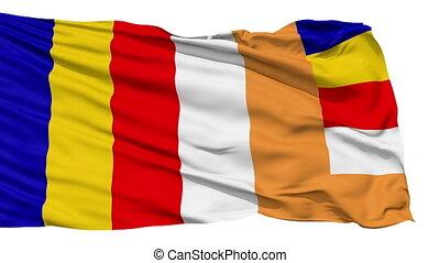 Full Flying Buddhist Flag - Flying Buddhist Flag which was...