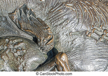 abstract bronze surface