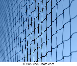 netting - full frame background showing a dark netting in ...