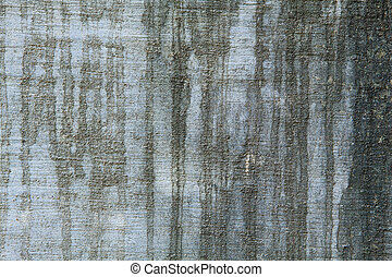 Full Frame Black Water Stains on a Grungy Cement Wall - Full...