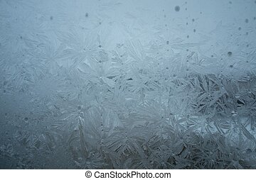 Full frame of a pattern of winter frost window