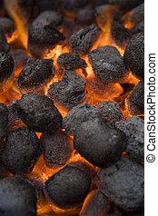 Barbecue Coal - Full Frame of Barbecue Coal