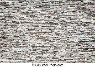 Full Frame Stone Wall Tightly Stacked Sandstone Slabs -...