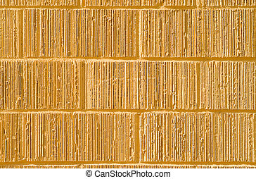 Full Frame Yellow Grooved Brick Wall - Yellow bricks with...