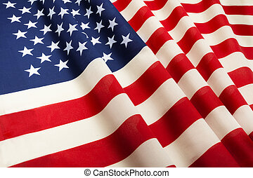 United States of America flag floating in the wind