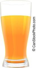 Full glass of fresh orange juice
