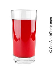 Full glass of fruit juice