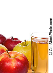 glass with apple juice