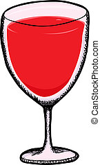 Full Goblet - Goblet with cranberry juice isolated over ...