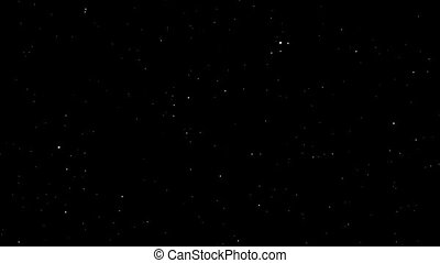 Full HD 3d space. - Fly through loopable stars. Space travel...