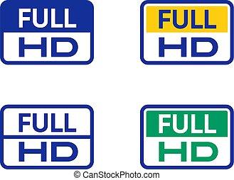 Full hd icons