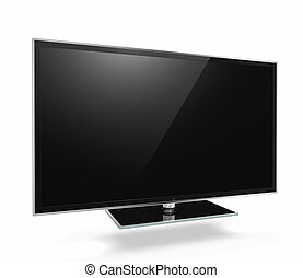 Full HD Led Television on white background