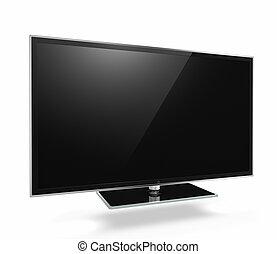 Full HD Led Television on white background