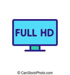 full hd quality icon vector outline illustration