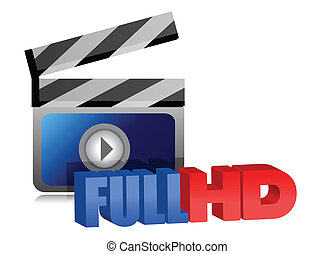 Full HD video sign illustration
