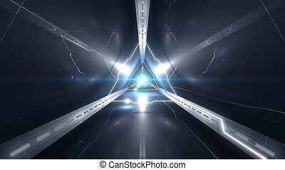 Full HD VJ Triangular 3D Tunnel Video - Full HD triangular...