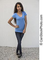 Full image of a beautiful model