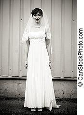 Full Lenght portrait of beautiful bride