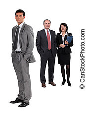 Full length business people