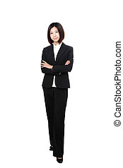 Full length Business woman confident smile standing