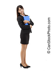 Full length Businesswoman portrait