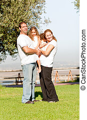Full length family lifestyle portrait