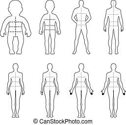 Full length front, back people - Full length front, back...