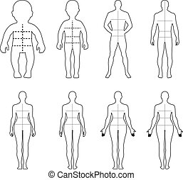 Full length front, back people - Full length front, back ...