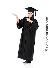 Full length graduation girl