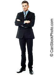 Full length image of a professional business executive