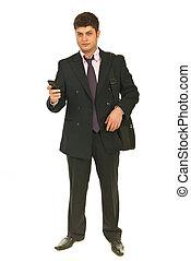 Full length of business man