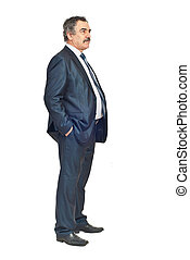 Full length of business man looking away