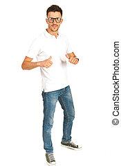 Full length of casual man