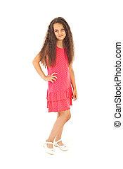 Full length of fashion girl