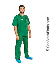 Full length of surgeon male