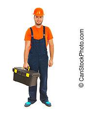 Full length of worker man