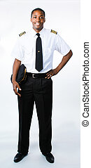 Full length photo of a pilot - Full length photo of a...