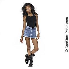 African American woman wearing deni