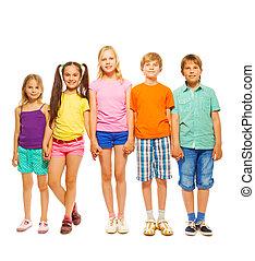 Full length photo of five children