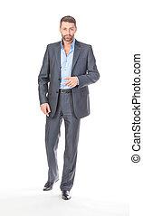 Full length portrait businessman