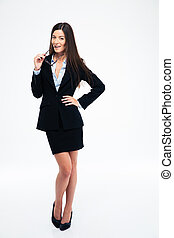 Full length portrait of a beautiful businesswoman