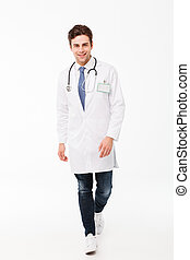 Full length portrait of a confident young male doctor