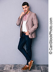 Full length portrait of a fashion man
