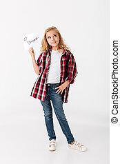 Full length portrait of a lovely little girl