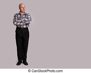 full length portrait of a old man